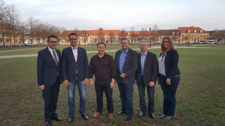 V.l.n.r.: KPV-Landesgeschäftsführer Helmut Gahsche, Michael Gayck, Dr. Jan Redmann, Frederik Otto, Jörg Gehrmann, Sebastian Steineke MdB, Jan-Pieter Rau