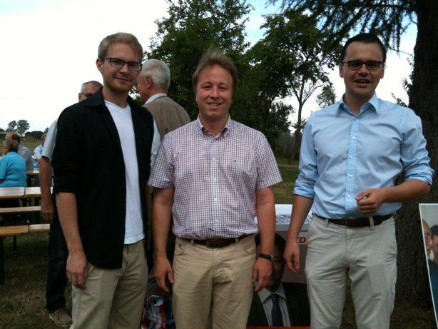 Michel Grünke (JU Prignitz), Sebastian Steineke (MdB) und Dr. Jan Redmann (Foto: Jenny Günther).